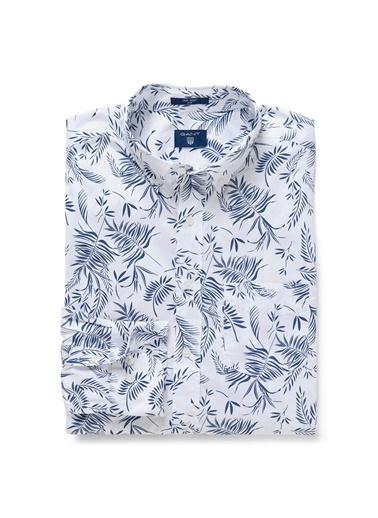 Gant Desenli Slim Gömlek Beyaz